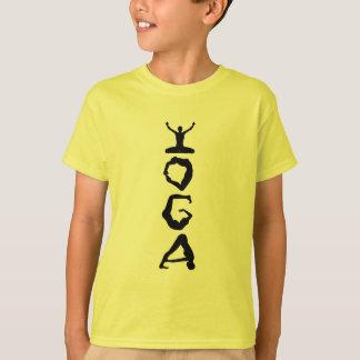 ヨガのラベルの黒のシルエット Tシャツ