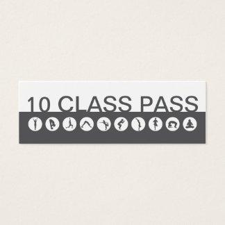 ヨガの名刺10のクラスのパス スキニー名刺