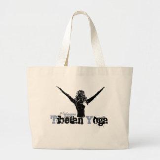 ヨガの哲学、-スポーツおよび子供のための… ラージトートバッグ