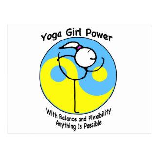 ヨガの女の子力のロゴ ポストカード