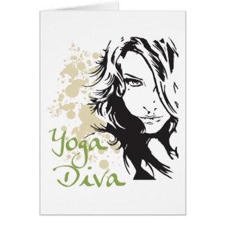 ヨガの花型女性歌手 カード