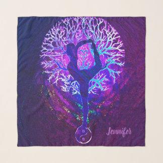 ヨガの陰陽の生命の樹 スカーフ