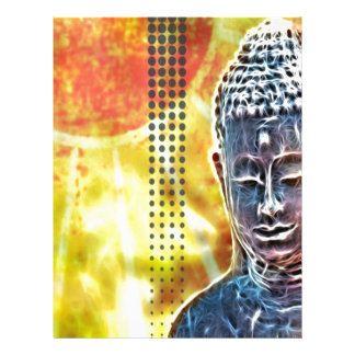 ヨガの黙想のニューエイジの精神的な禅仏 レターヘッド