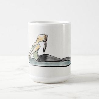 """ヨガの""""茶""""マグ コーヒーマグカップ"""