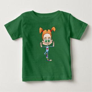 ヨガをしている女の子の漫画の絵 ベビーTシャツ