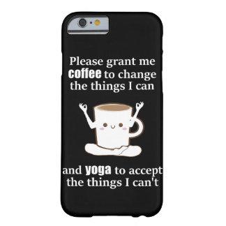 ヨガをするかわいいコーヒーカップ BARELY THERE iPhone 6 ケース