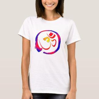 ヨガティーOmのオウムのSpritualの健全な記号 Tシャツ