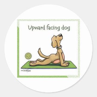 ヨガ犬-上向きの表面仕上げ犬の姿勢 ラウンドシール