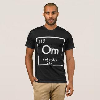 """ヨガ""""Om""""の要素 Tシャツ"""