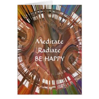 ヨガDarshan: 幸せがめい想して下さい、放射して下さい、あって下さい カード