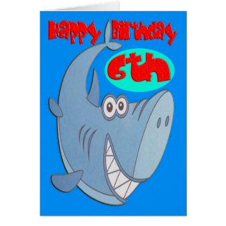 ヨシキリザメの第6誕生日 カード