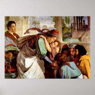 ヨセフはなされましたエジプト(GENの41:38 - 49)の定規に ポスター