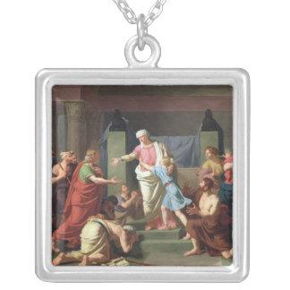 ヨセフは彼の兄弟1789年によって確認しました シルバープレートネックレス