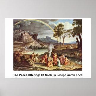 ヨセフアントンKoch著ノアの平和供物 ポスター