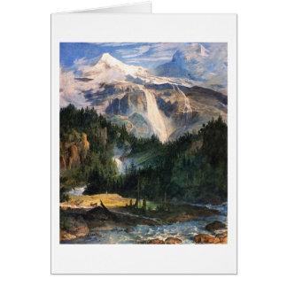 ヨセフアントンKoch - Schmadribach Wasserfall 1822年 カード