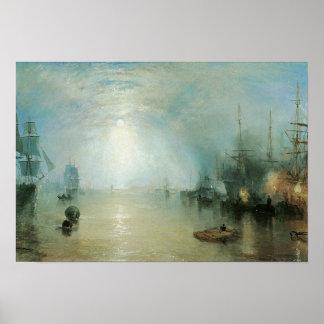 ヨセフターナーのヴィンテージのビクトリアンな海上海景 ポスター