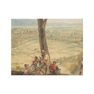 ヨセフMallordウィリアムターナー- Monteからのローマ キャンバスプリント