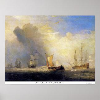 ヨセフMallordターナー著ロッテルダムのフェリーボート ポスター