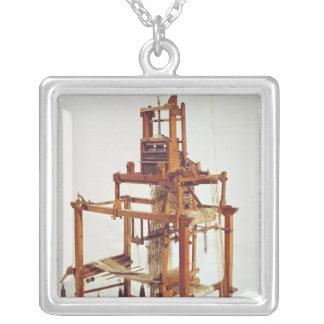 ヨセフMarieのジャカードによって設計されている織機 シルバープレートネックレス