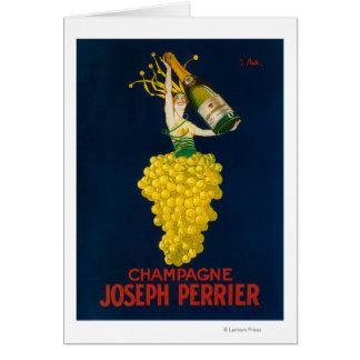 ヨセフPerrierシャンペンの昇進ポスター カード