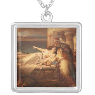 ヨセフStallaert 1872年著ディドの死 シルバープレートネックレス