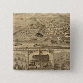 ヨセフWaltonの石炭の仕事 5.1cm 正方形バッジ