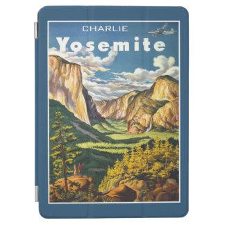 ヨセミテのヴィンテージ旅行名前をカスタムする装置カバー iPad AIR カバー