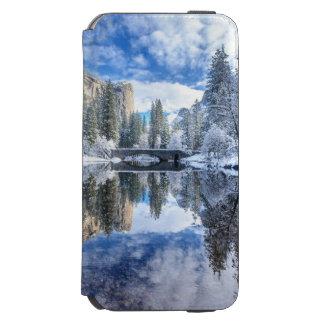 ヨセミテの冬の反射 iPhone 6/6Sウォレットケース