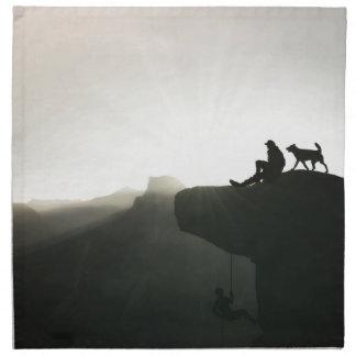 ヨセミテの刺激およびユーモアに上る山 ナプキンクロス