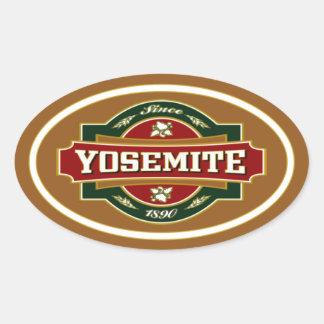 ヨセミテの古いラベル 楕円形シール