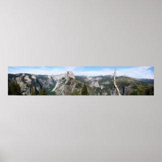 ヨセミテの巨大なパノラマ ポスター