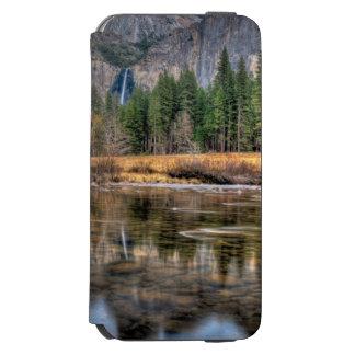ヨセミテの景色の滝 iPhone 6/6Sウォレットケース