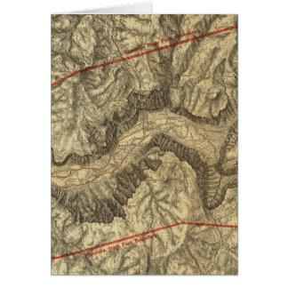 ヨセミテの谷の地形図 カード