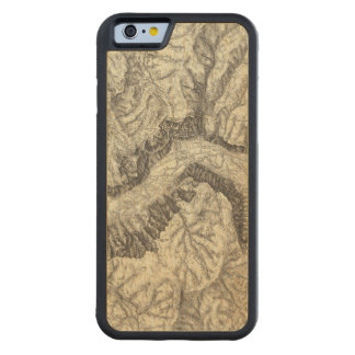 ヨセミテの谷の地形図 CarvedメープルiPhone 6バンパーケース