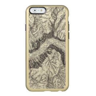 ヨセミテの谷の地形図 INCIPIO FEATHER SHINE iPhone 6ケース