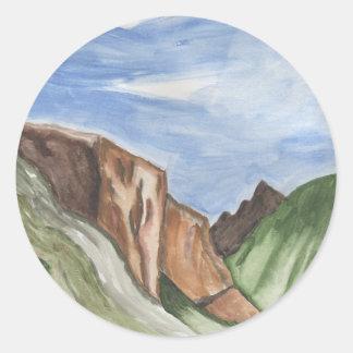 ヨセミテの谷の絵画 ラウンドシール