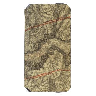 ヨセミテの谷2の地形図 iPhone 6/6Sウォレットケース