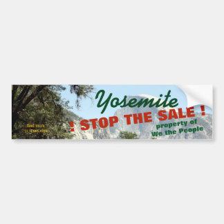 ヨセミテ公園の販売を=公共財産ストップ バンパーステッカー