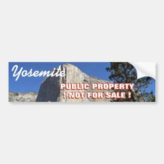 ヨセミテ公園は販売のための公共財産ないです。 バンパーステッカー
