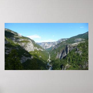 ヨセミテ国立公園のヨセミテの谷 ポスター