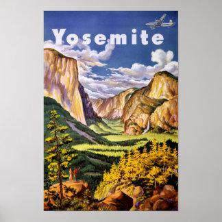 ヨセミテ国立公園のヴィンテージポスター ポスター