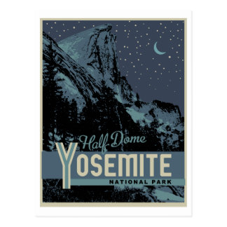 ヨセミテ国立公園の半分のドームの郵便はがき ポストカード