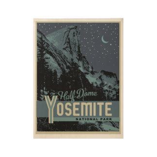 ヨセミテ国立公園の半分のドーム木ポスター ウッドポスター