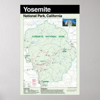 ヨセミテ国立公園の大きいポスター ポスター