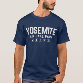 ヨセミテ国立公園のTシャツ(暗い) Tシャツ