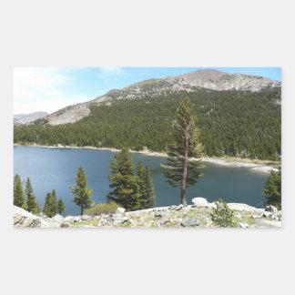 ヨセミテ国立公園のTenaya湖 長方形シール
