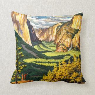 ヨセミテ国立公園カリフォルニア旅行芸術 クッション