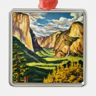 ヨセミテ国立公園カリフォルニア旅行芸術 メタルオーナメント