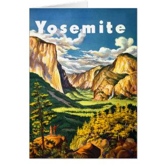 ヨセミテ国立公園旅行芸術 カード