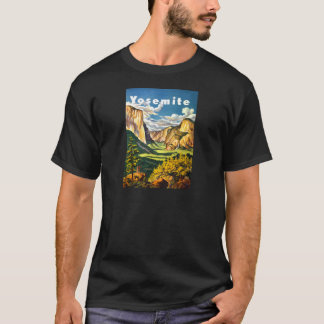 ヨセミテ国立公園旅行芸術 Tシャツ